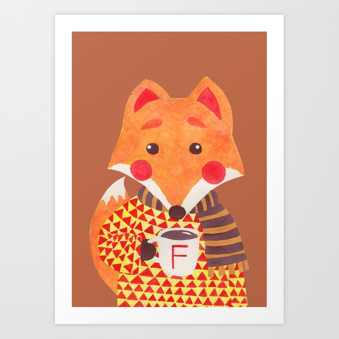 Winter Season is Coming (Fox Version) Art Print