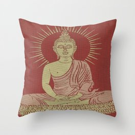 Power of Now collected from Thailand Throw Pillow