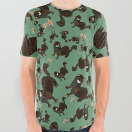 Shy european mink pattern All Over Graphic Tee