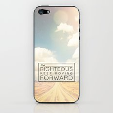 Job 17:9 Moving Forward iPhone & iPod Skin