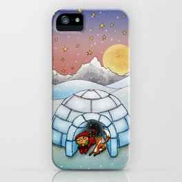 Winter Home iPhone Case