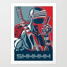 Snake Eyes don't talk much Art Print