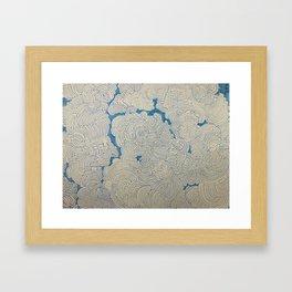 A Cloudy Maze Framed Art Print
