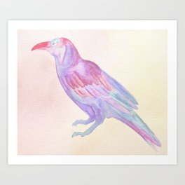 Blue Crow Art Print