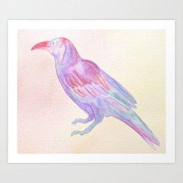 Blue Crow Art Print