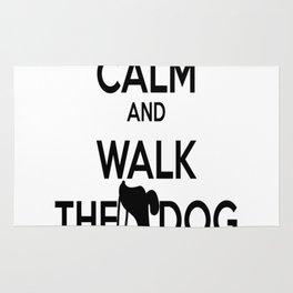 Keep Calm and walk the dog Rug
