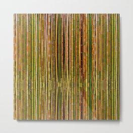 Bamboo fence, texture Metal Print
