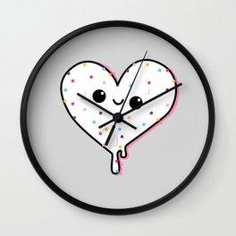 ice heart no bottom Wall Clock