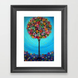 Tree of Life by Pristine Cartera Turkus Framed Art Print