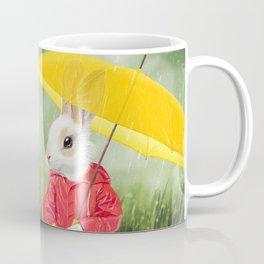 It's raining, little bunny! Coffee Mug