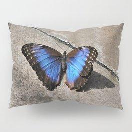 Blue Morpho in Moonlight Pillow Sham