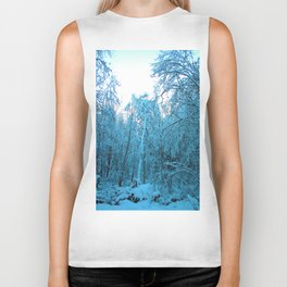 Snow and Shapes Biker Tank