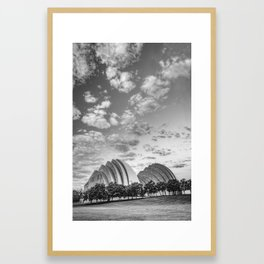 Kauffman Arts Center Grand Ballroom Landscape - Kansas City Monochrome Framed Art Print