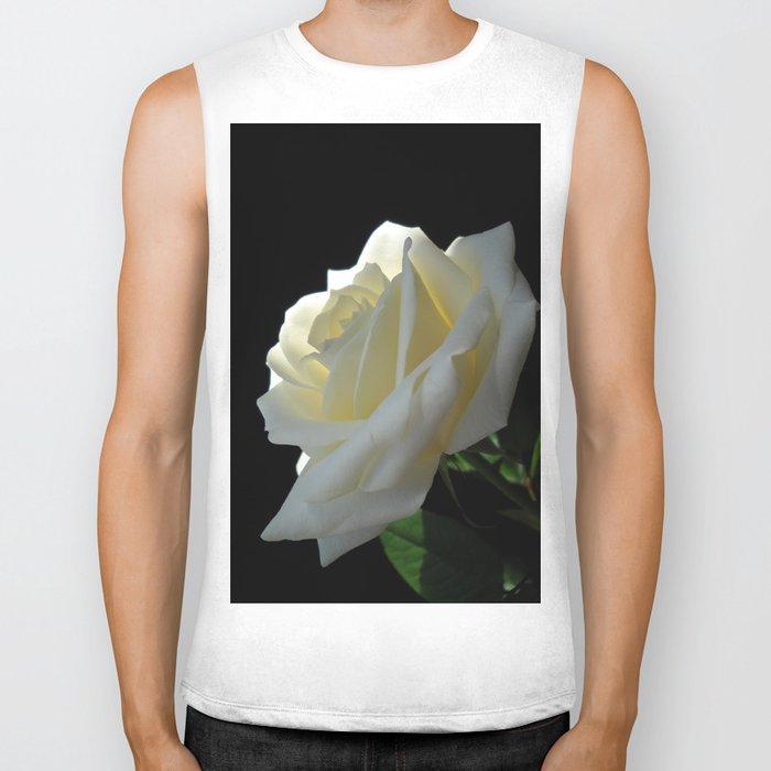 White Rose Biker Tank