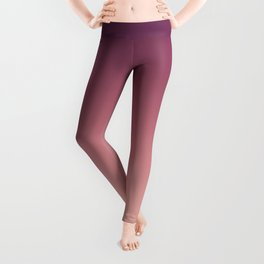 Purple cream Ombre . Leggings