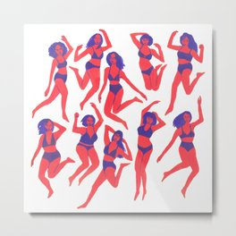 Underwear Dancing Metal Print