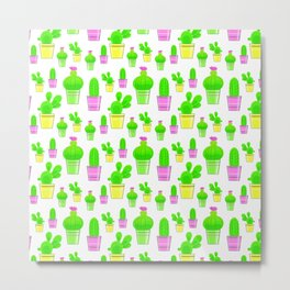 the cactus pattern Metal Print