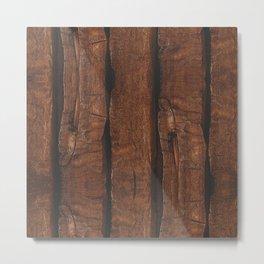 Rustic brown old wood Metal Print