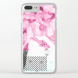 Pizza Kahlo Clear iPhone Case