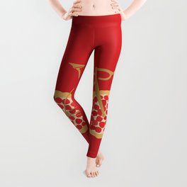 Bicycle Pizza Wheels Leggings