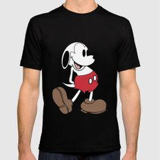 Mickey x Snoopy MEDIUM Mens Fitted Tee Black