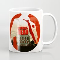 shaun of the dead Mugs featuring Shaun Of The Dead by Duke Dastardly
