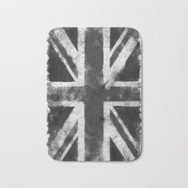UK flag Black and White Bath Mat