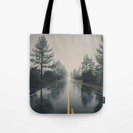 Hiking road explore Tote Bag