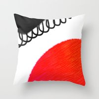 clown Throw Pillows featuring clown by Gréta Thórsdóttir