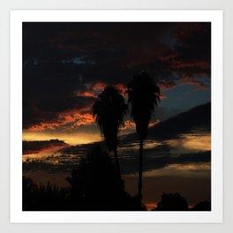 Palms On a Sunset Art Print