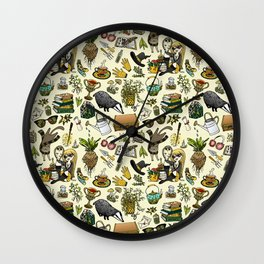 Magical Herbology Wall Clock