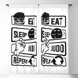 Eat Sleep Judo Repeat - Martial Arts Defence Blackout Curtain