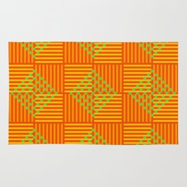 Square Carrots Rug