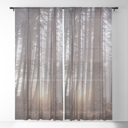 PNW Forest Dreamscape Sheer Curtain