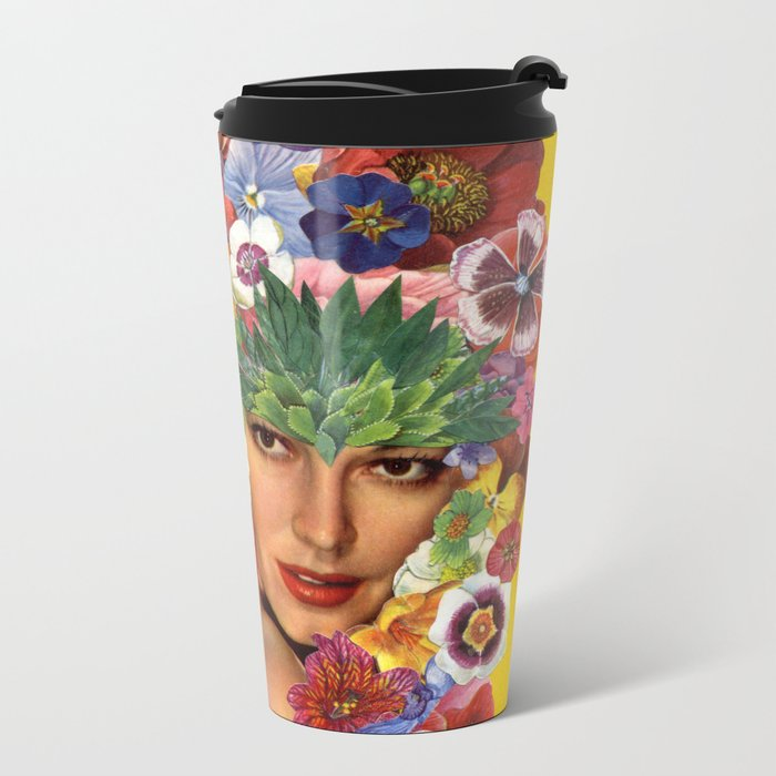 Ava Gardner Metal Travel Mug