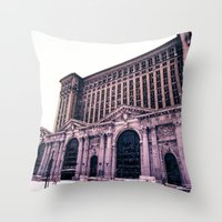 caleb troy Throw Pillows featuring Troy by Litew8