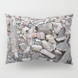 broken urban grey concrete bricks photo texture Pillow Sham