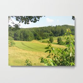Landscape photo of a field in southern Germany Metal Print