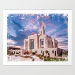 Ogden Utah LDS Temple Art Print