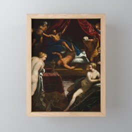 """Tintoretto (Jacopo Robusti) """"Hercules Expelling the Faun from Omphale's Bed"""" Framed Mini Art Print"""