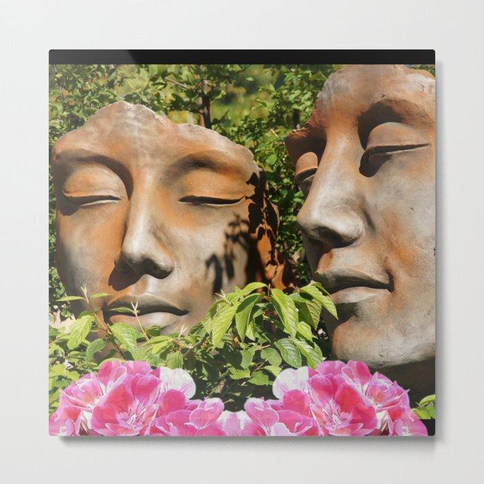 Faces in the Garden Metal Print