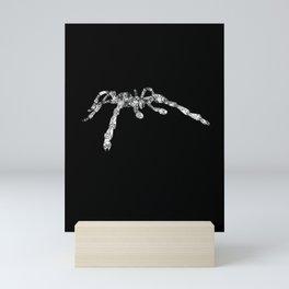Scuttle Tarantula Spider Grunge Vintage Line Art Mini Art Print