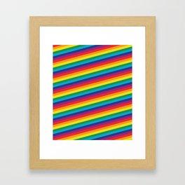 HD Rainbow Framed Art Print