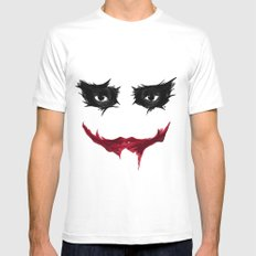 SMILE MEDIUM White Mens Fitted Tee