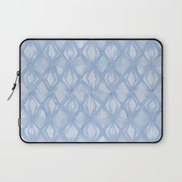 Braided Diamond Sky Blue on Lunar Gray Laptop Sleeve