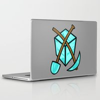 geology Laptop & iPad Skins featuring It's All About The Diamonds by Artistic Dyslexia