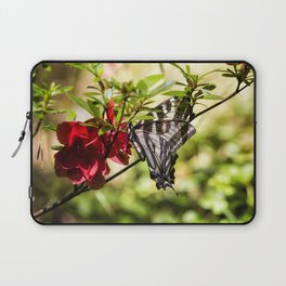 Butterfly on an Azalea Laptop Sleeve