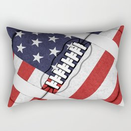 4th of July American Football Fanatic Rectangular Pillow