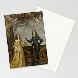 Gerard van Honthorst - Portrait of Willem II (1626-1650), Prince of Orange, and his Wife Mary Stuart Stationery Cards