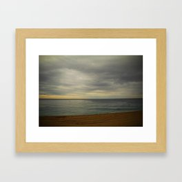 Barcelona beach Framed Art Print
